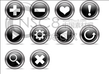 Link toBlack raised buttons icon series