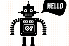 Link toBlack robot design vector