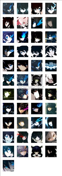 Link toBlack rock shooter anime icons