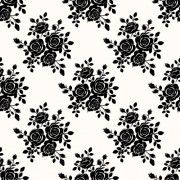 Link toBlack roses seamless patterns vector graphics free