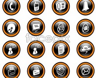 design graphic vector icons crystal round Black