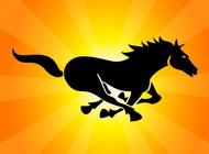 Link toBlack running horse vector free