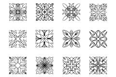 Link toBlack square pattern vector