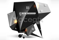Link toBlack stereo technology background vector