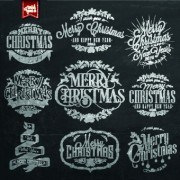 Link toBlack style christmas typographic vector