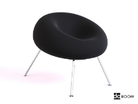 Link toBlack suede leg lounge chair