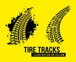Link toBlack tire marks vector