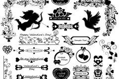 Link toBlack valentine pattern design vector