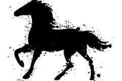 Link toBlack watercolor horse vector
