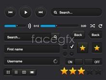 Link toBlack web player ui design template psd