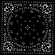 Link toBlack with white bandana patterns design vector 01 free