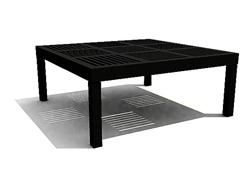 Link toBlack wood arts square table 3d models