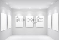 Link toBlank ai hall gallery template vector graphic