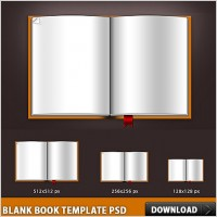 Link toBlank book template psd file