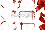 Link toBlank cards with ribbons tied vector