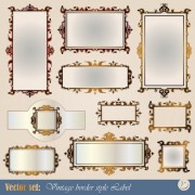 Link toBlank frames design vector collection 05 free