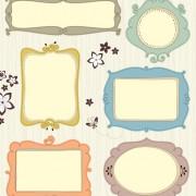 Link toBlank frames design vector collection 07 free