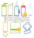 Link toBlank hang tags labels vector