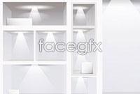 Link toBlank indoor showroom template vector 2