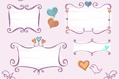 Link toBlank labels 5 hand-painted lace vector