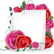 Link toBlank paper and rose vector graphics free