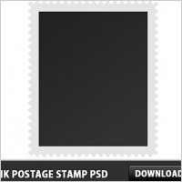 Blank postage stamp free psd