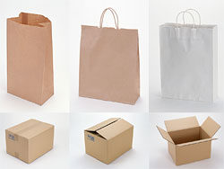 Link toBlank recycled paper bags and cardboard pictures