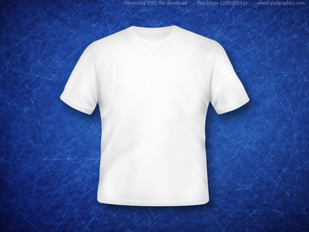 Link toBlank white t-shirt (psd)