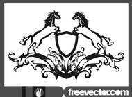 Link toBlazon with horses vector free