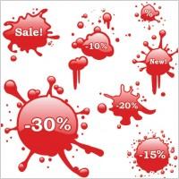 Link toBleeding discount icon vector