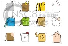 Link toBlock 12 zodiac icons