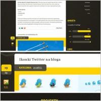 Link toBlog website free psd