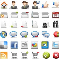 Link toBlogging icon set icons pack