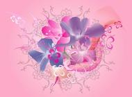 Link toBlooming flowers images art vector free