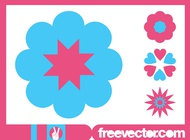 Link toBlossoms icons graphics vector free