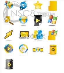 Link toBlue and yellow desktop icon