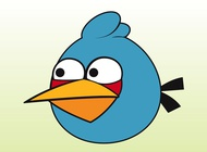 Blue angry bird vector free