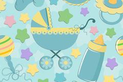 Link toBlue baby background vector