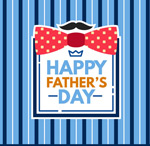 Link toBlue background for father's day greeting vector