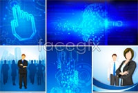 Link toBlue background of technology in the workplace