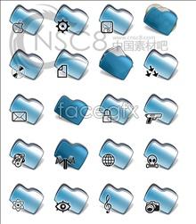 Link toBlue bean-shaped folders
