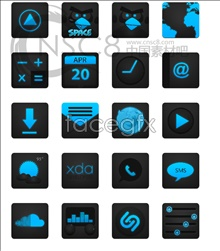 Link toBlue black phone desktop icons