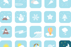 Link toBlue cartoon weather icon vector