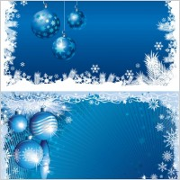 Link toBlue christmas background 03 vector