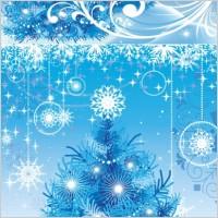 Link toBlue christmas background vector