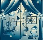 Link toBlue christmas illustration vector
