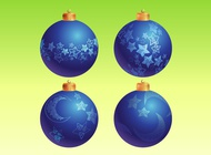 Link toBlue christmas ornaments vector free