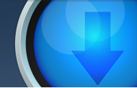 Link toBlue circular download button psd