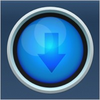 Link toBlue circular download button