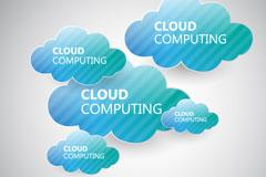 Link toBlue cloud paper-cut vector background